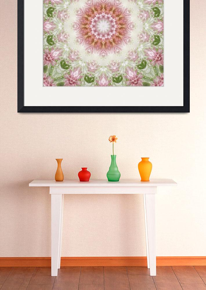 """Pink Chrysanthemums Kaleidoscope Art 3&quot  (2009) by ChristopherInMexico"