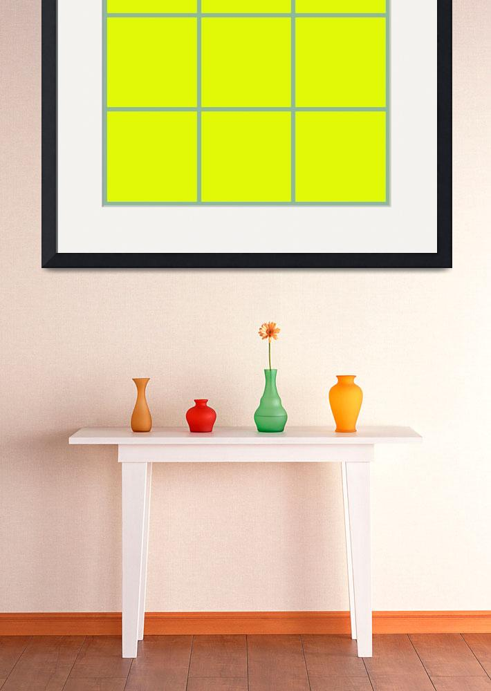 """Yellow Window 094 Canvas Contemporary Modern&quot  (2010) by Ricardos"
