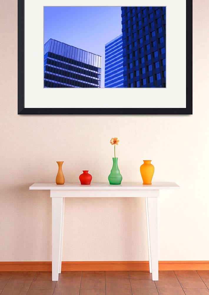 """Century City Office Buildings in Morning&quot  (2010) by atonalarts"