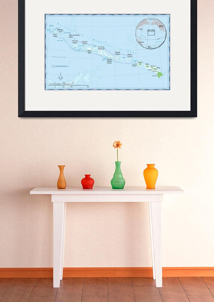 """Hawaiian Islands Map&quot  by Alleycatshirts"