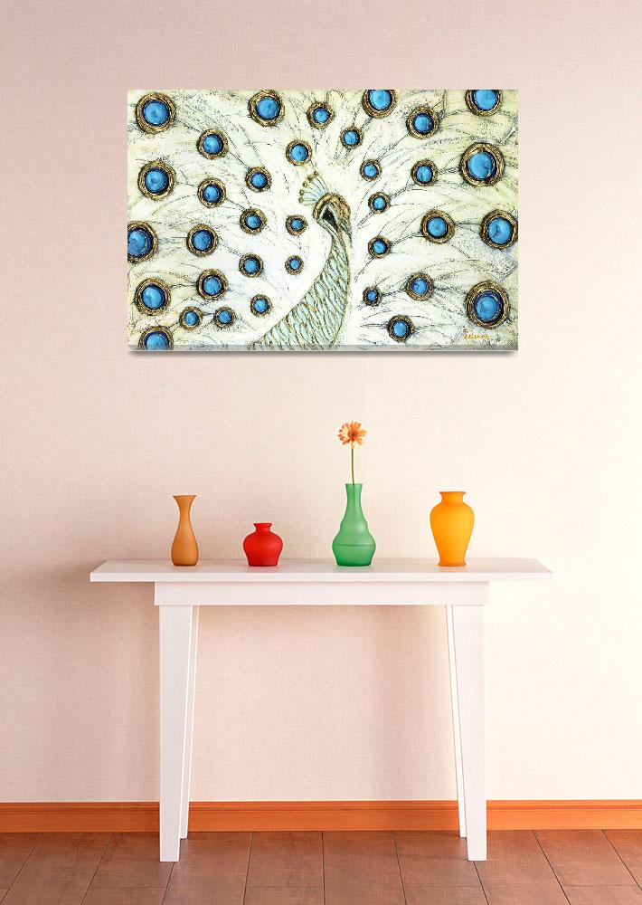 """Peacock&quot  (2009) by modernhouseart"