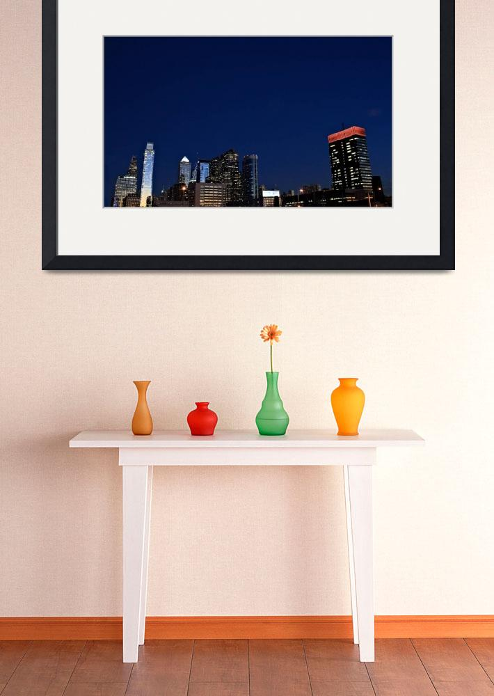 """Philadelphia Skyline&quot  (2010) by christiancarollo"