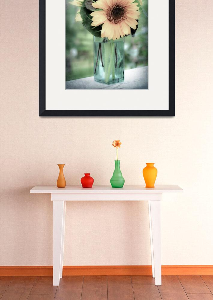 """Tall Green Vase&quot  (2011) by marycarnahan"