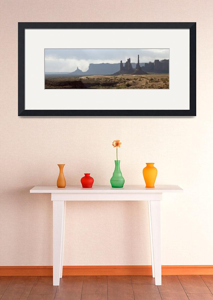 """Monument Valley Panorama&quot  (2009) by miir"