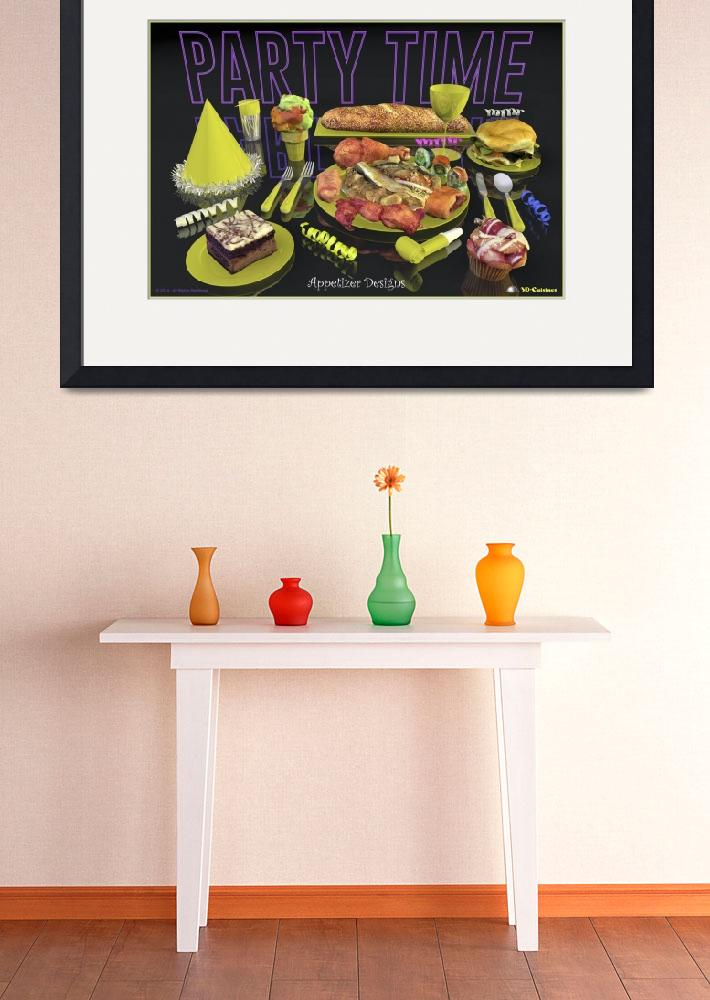 """Party Time Neon Yellow - Appetizer Designs&quot  (2014) by 3D-Cuisines"