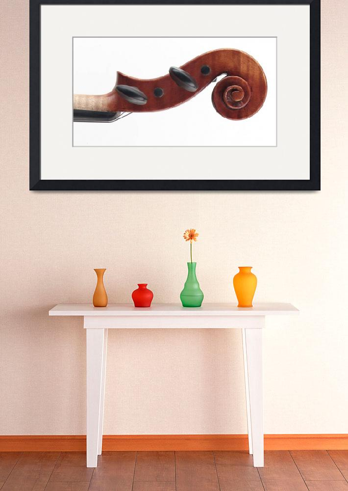 """violin scroll&quot  (2005) by atlasphotographic"