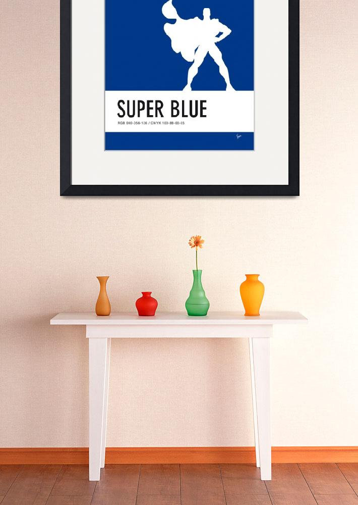 """No23 My Minimal Color Code poster Superman&quot  by Chungkong"