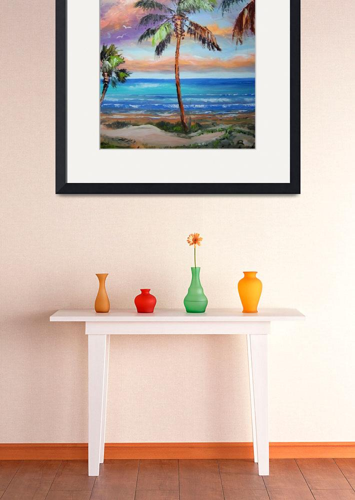 """Palm Tree - Tropical Island Beach&quot  (2011) by mazz"
