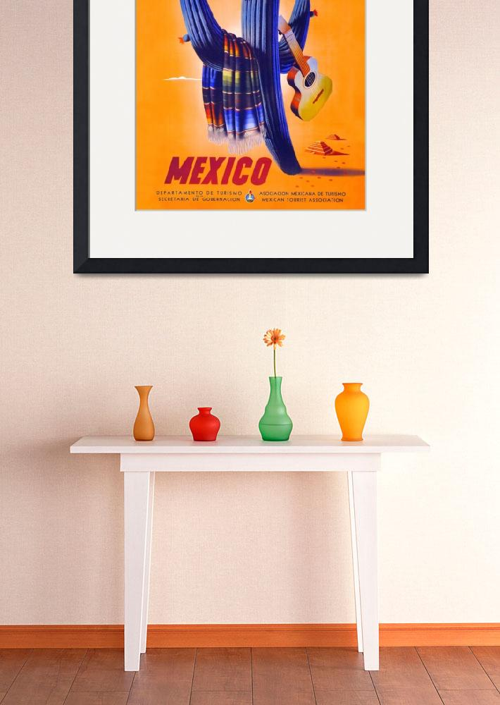"""Mexico Travel Poster 1&quot  (1945) by jvorzimmer"