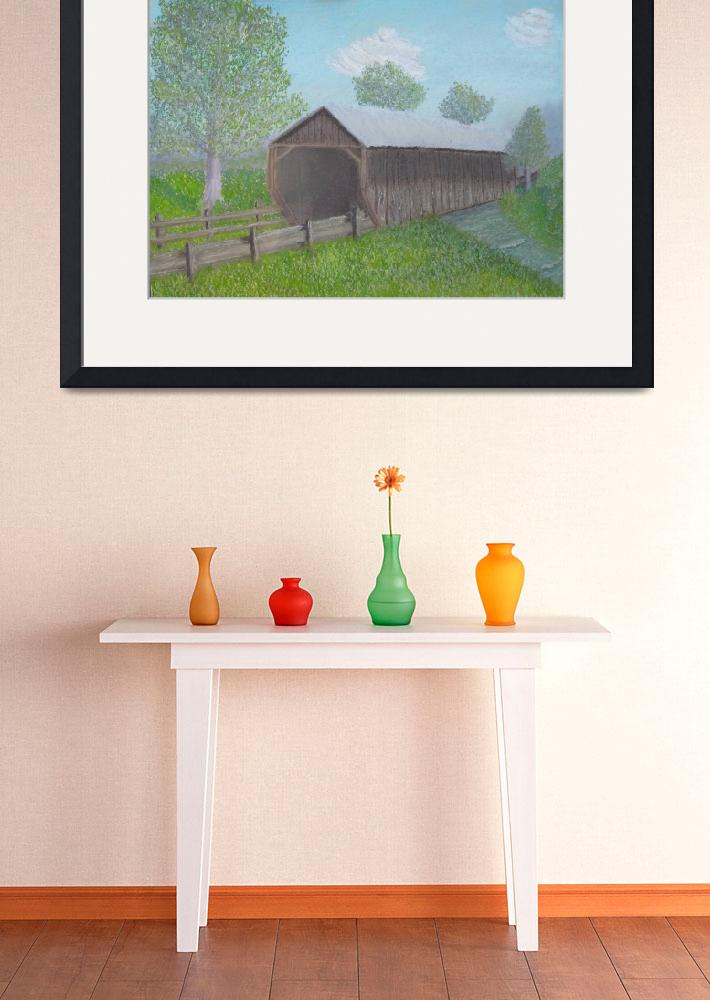 """Ohio Covered Bridge&quot  (2013) by cathypiercepayne"