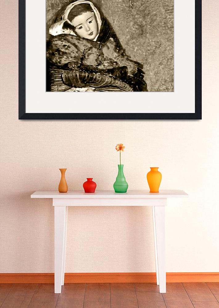 """Gift of Fine Art For Mom Sepia Tone Wall Decor&quot  (2010) by PhotographsByCarolFAustin"