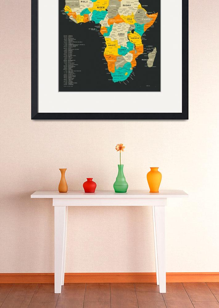"""Africa Map&quot  by JazzberryBlue"