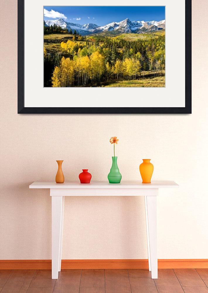 """Yellow Aspens In The Rockies&quot  (2007) by pbk"