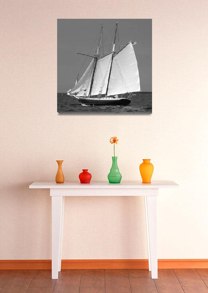 """Schooner Full Sail II&quot  (2009) by MAGartworks"