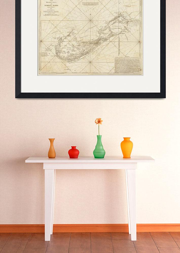 """Vintage Map of Bermuda (1788)&quot  by Alleycatshirts"