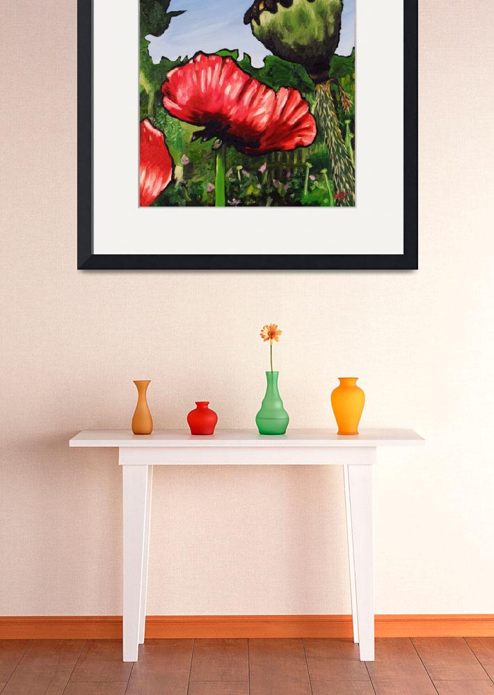 """Poppies and Pod&quot  (2008) by harryboardman"