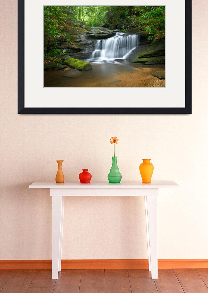 """Hidden Falls - WNC Waterfall Photography&quot  (2010) by DAPhoto"