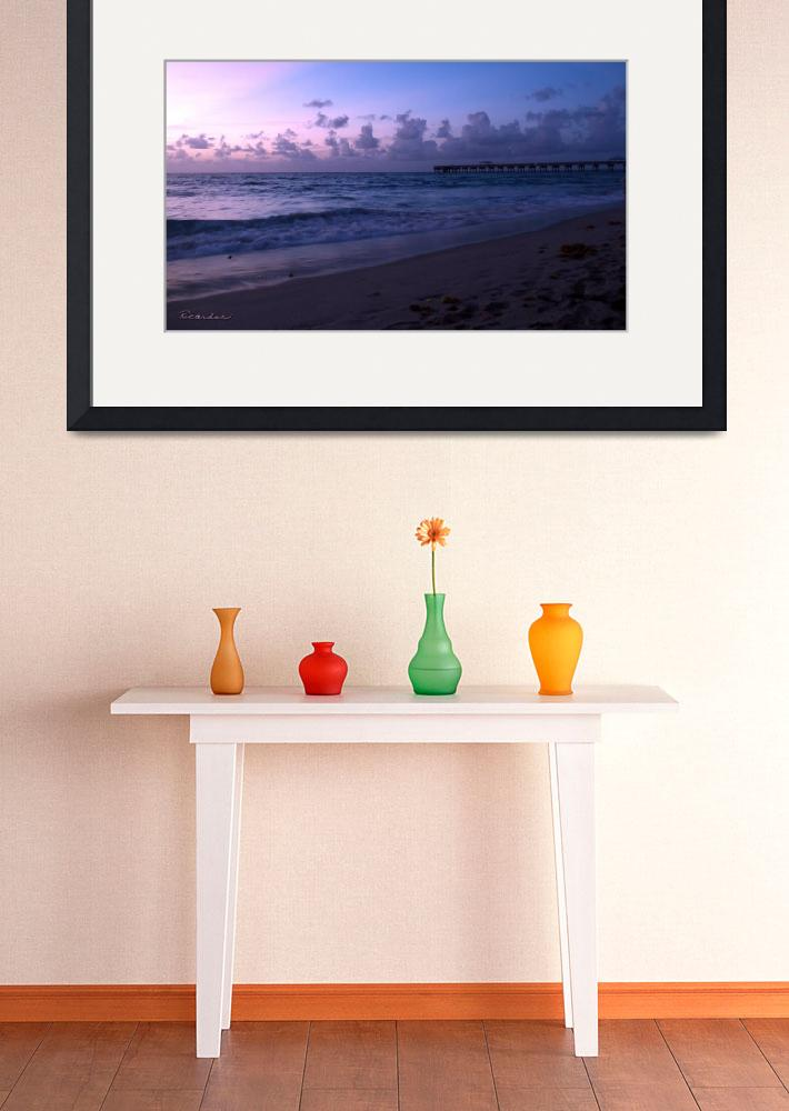 """Tropical Sunrise Beach Seascape C3&quot  (2015) by Ricardos"