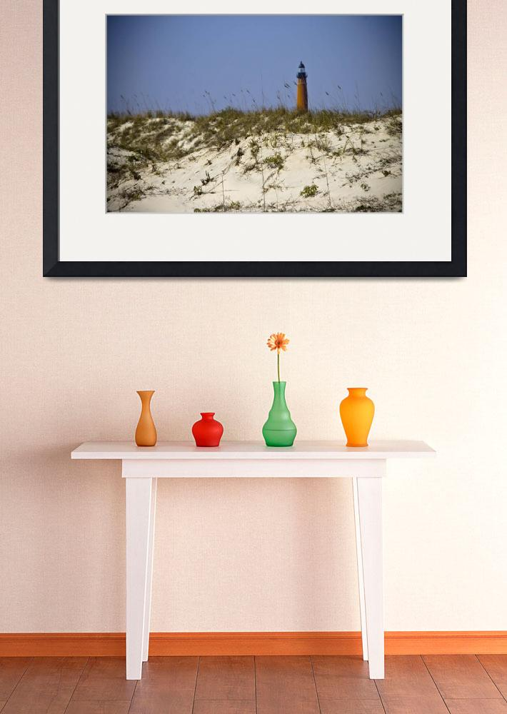 """Beach View of Ponce Inlet Lighthouse&quot  (2012) by ValeriesGallery"