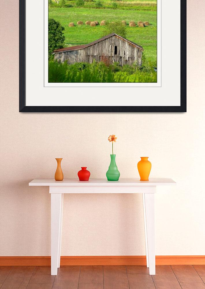 """Wellsboro Pennsylvania Hay Bales Rustic Barn&quot  (2011) by CuriousEye"