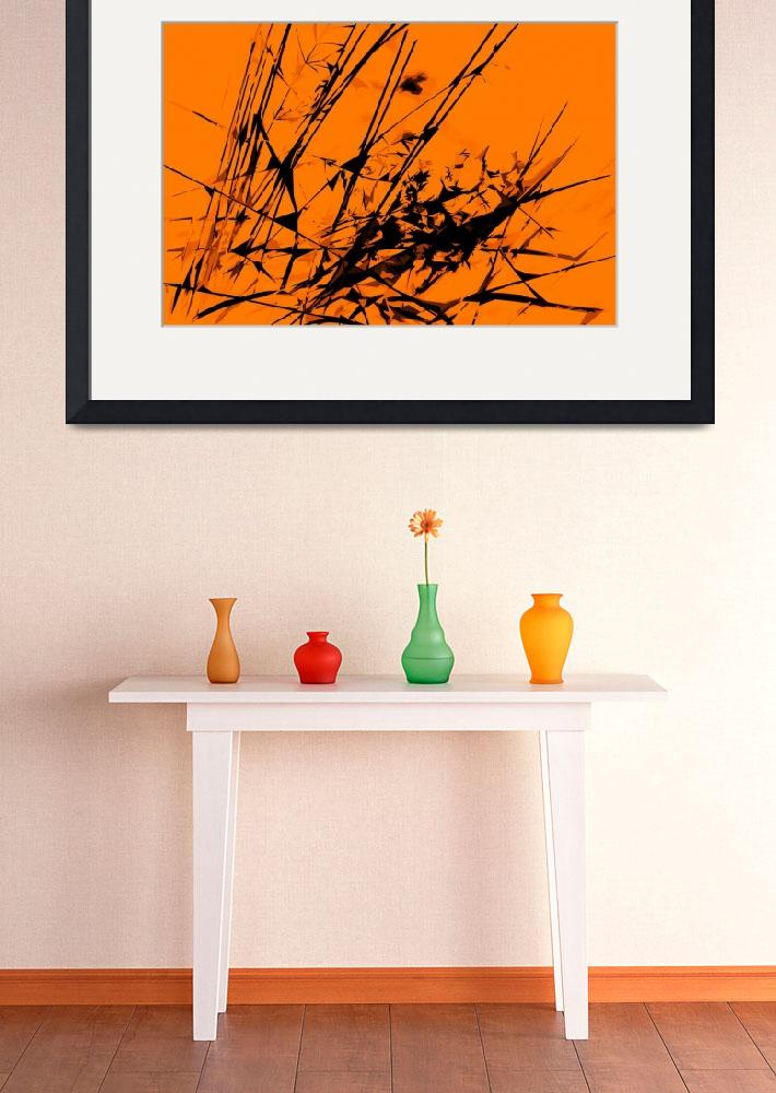 """Strike Out Orange and Black Abstract&quot  (2012) by NatalieKinnear"