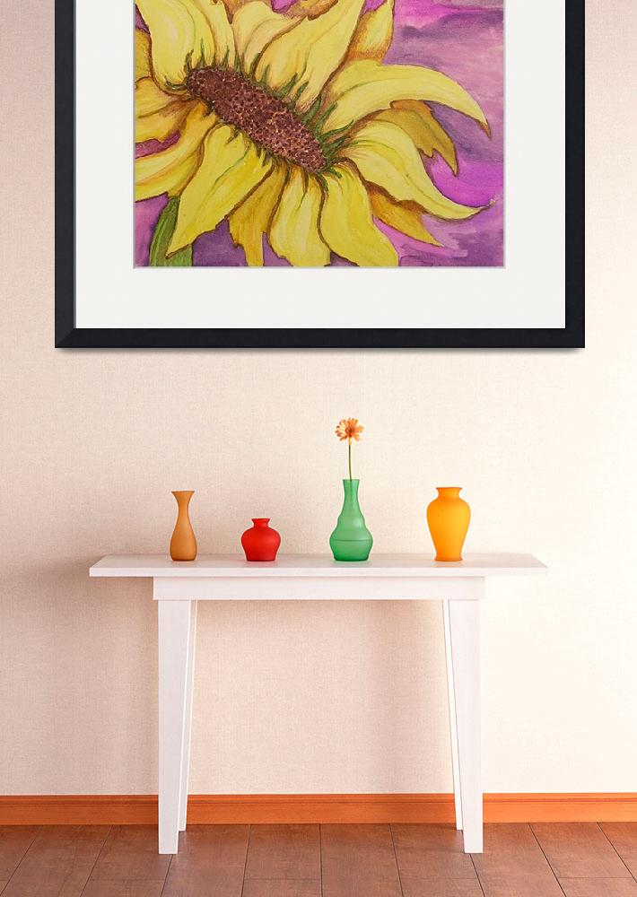 """Watercolor Sunflower&quot  by DebGauthier"