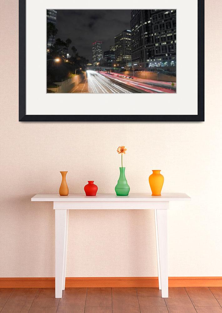"""7th street and Harbor freeway&quot  (2009) by eyalna"