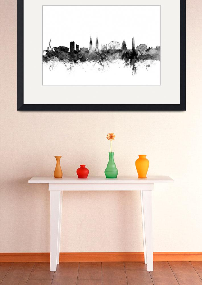 """Belfast Northern Ireland Skyline&quot  (2015) by ModernArtPrints"