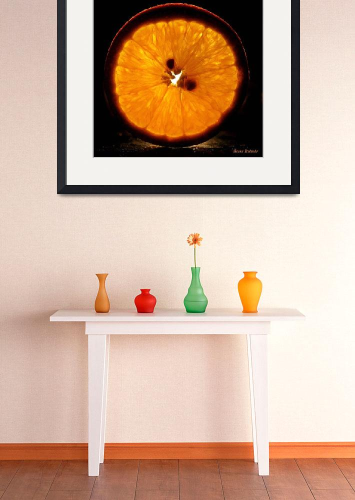 """A slice of orange......&quot  (2011) by AroonKalandy"