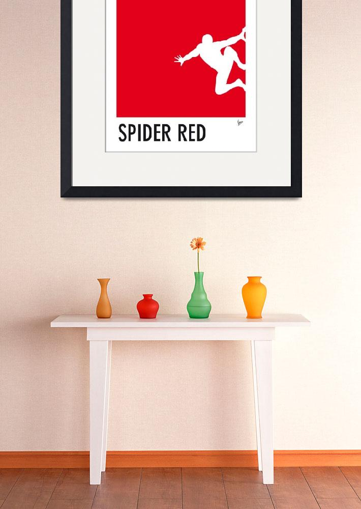 """My Superhero 04 Spider Red Minimal poster&quot  by Chungkong"