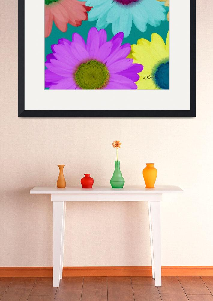 """Oversize Daisies Two&quot  (2012) by RuthPalmer"