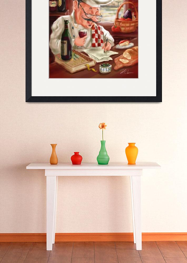 """Busy Chef Beaujolais Large 1&quot  by shariwarren"