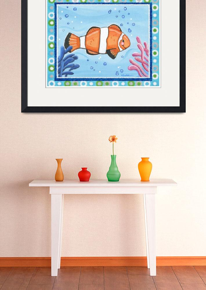 """Clown Fish (with border)&quot  (2008) by Littlepig"