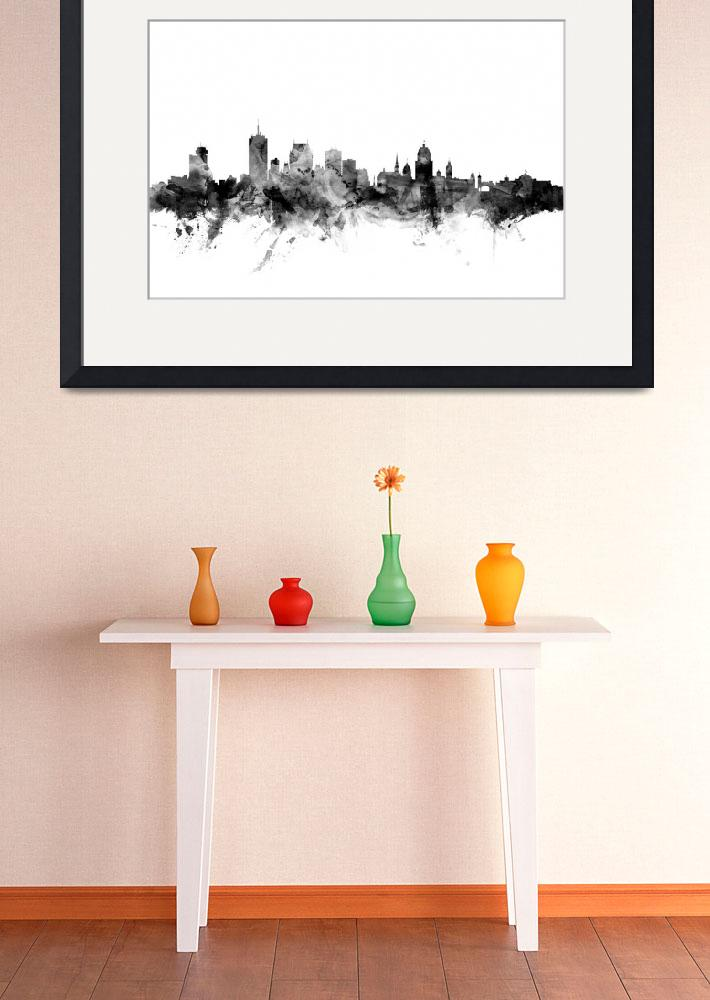 """Quebec Canada Skyline&quot  (2015) by ModernArtPrints"