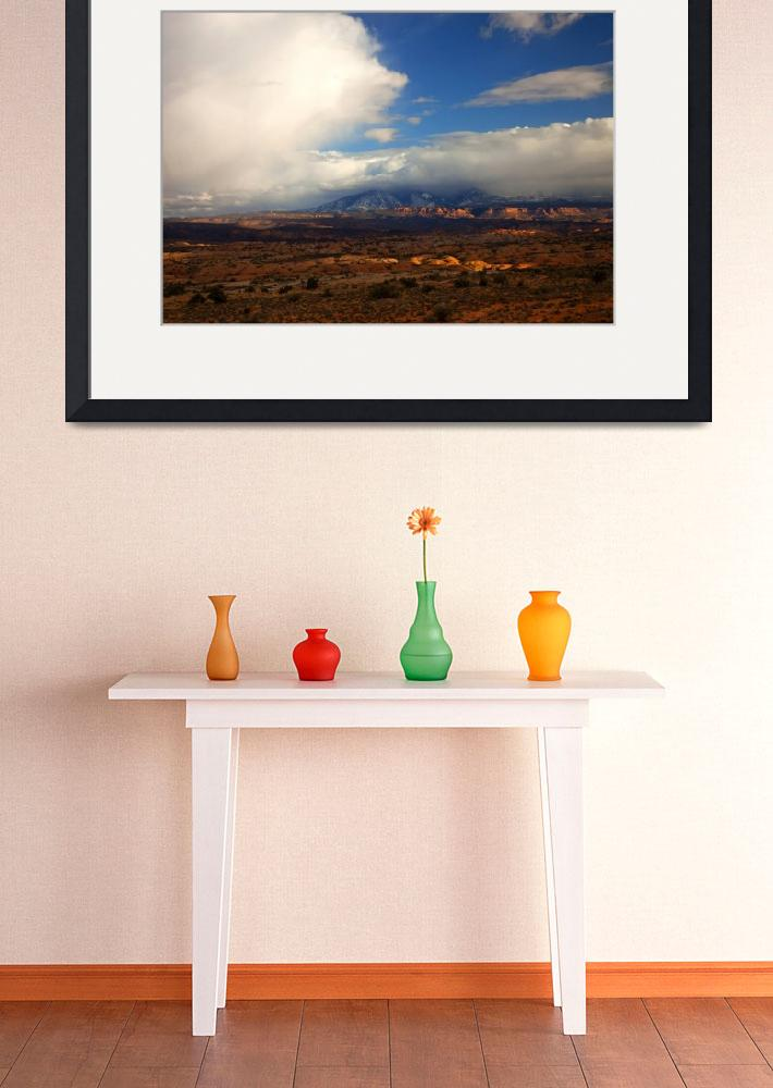"""Storm over the La Sals&quot  (2012) by Dawsonimages"