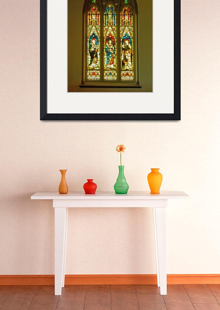 """3 Apostles South Stained Glass Window Christ Churc&quot  (2010) by Markomarko"