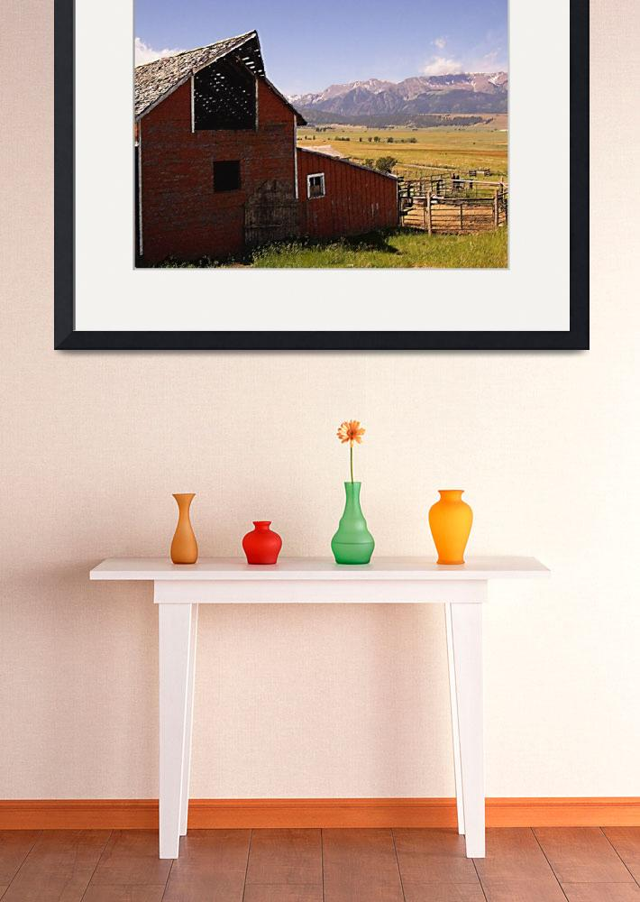 """barn and mountain Pastel&quot  by Mac"