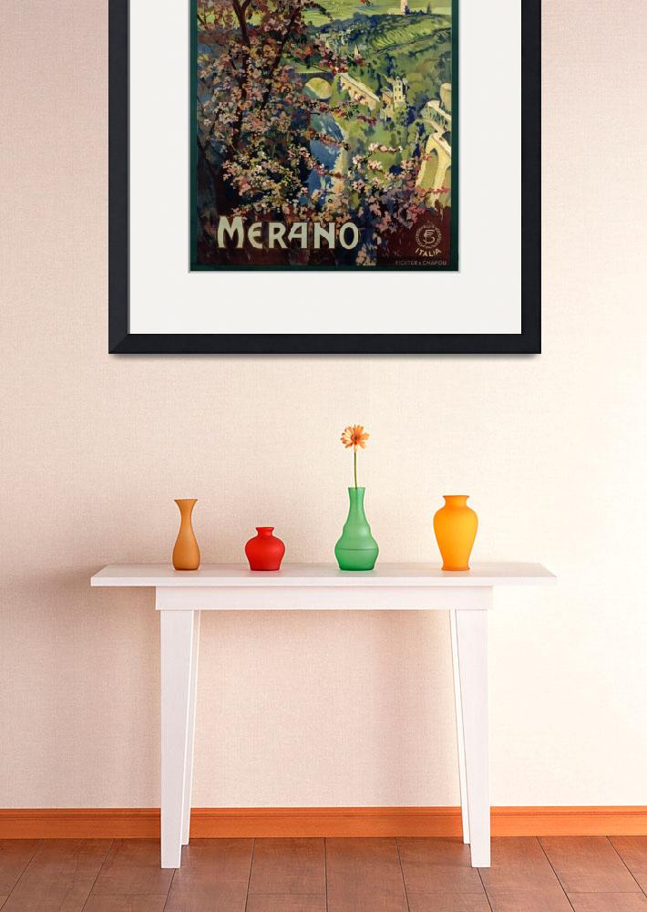 """Poster of Merano, printed by Richter & C. Naples&quot  by fineartmasters"