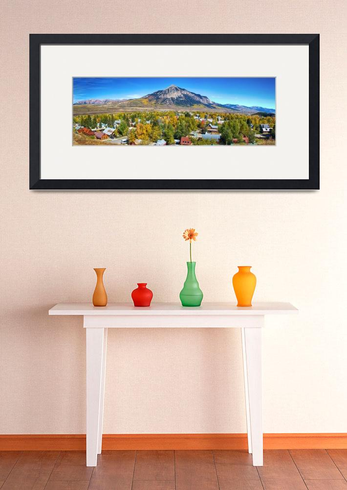 """City of Crested Butte Colorado Panorama&quot  (2013) by lightningman"