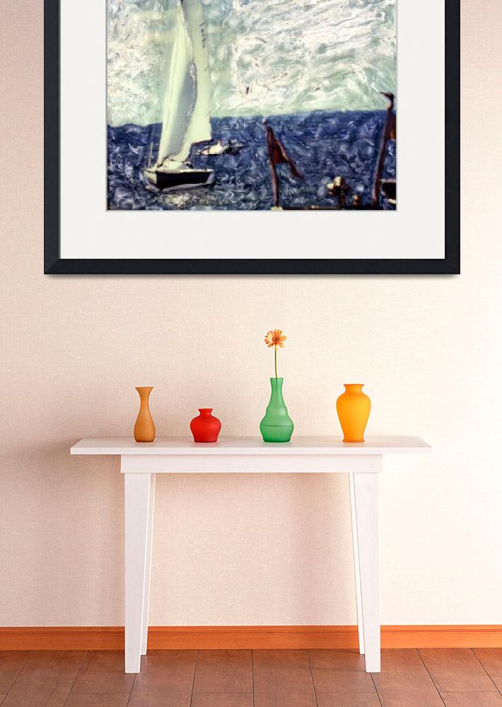 """Sailing on the Finger Lakes&quot  (2005) by shadowboxphoto"