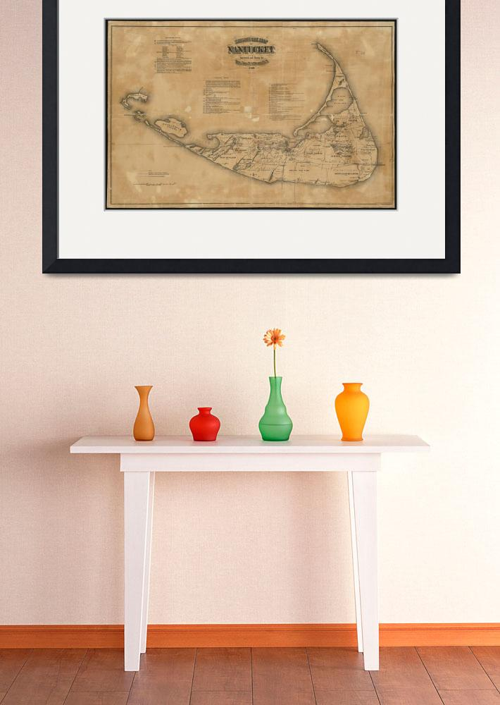 """Vintage Map of Nantucket (1869)&quot  by Alleycatshirts"