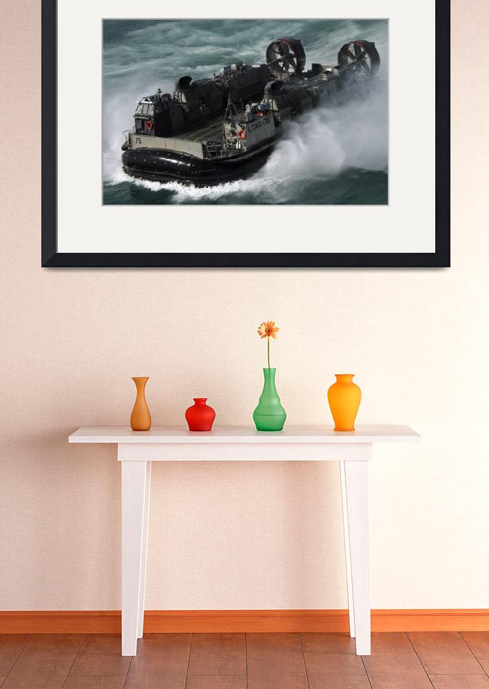 """A US Navy Landing Craft Air Cushion heading to the&quot  by stocktrekimages"