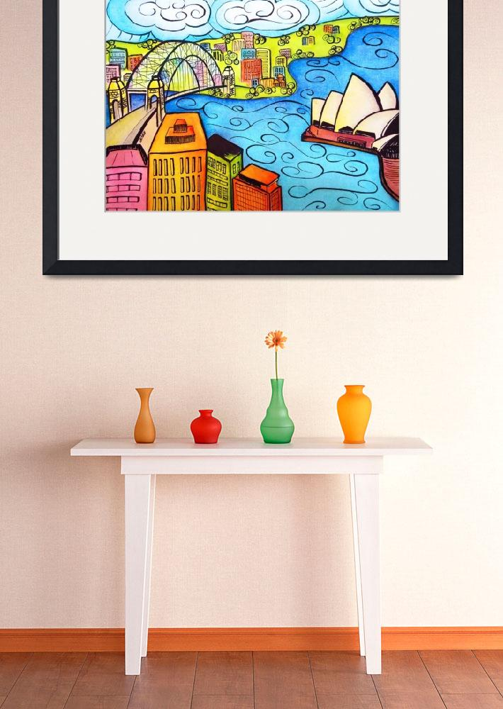 """Whimsical Sydney Harbour&quot  (2013) by oystudio"
