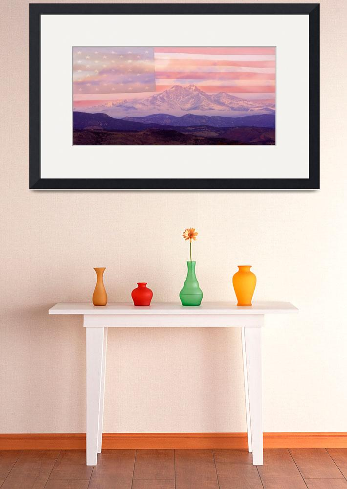 """Twin Peaks - Longs Peak and Mt. Meeker Panorama -&quot  (2010) by lightningman"
