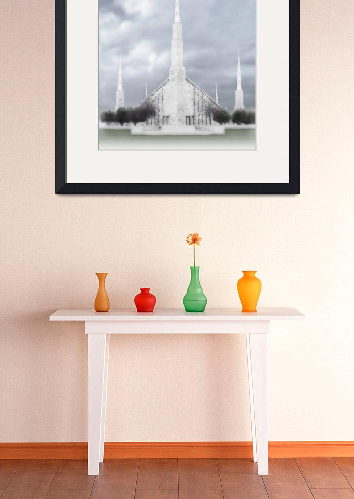 """Boise Temple Large-16x20-tinted&quot  by TerrySpringer"
