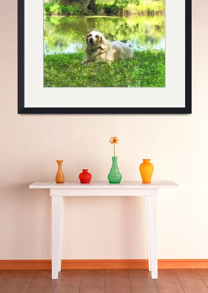 """Yellow Lab by Lake&quot  by susansartgallery"