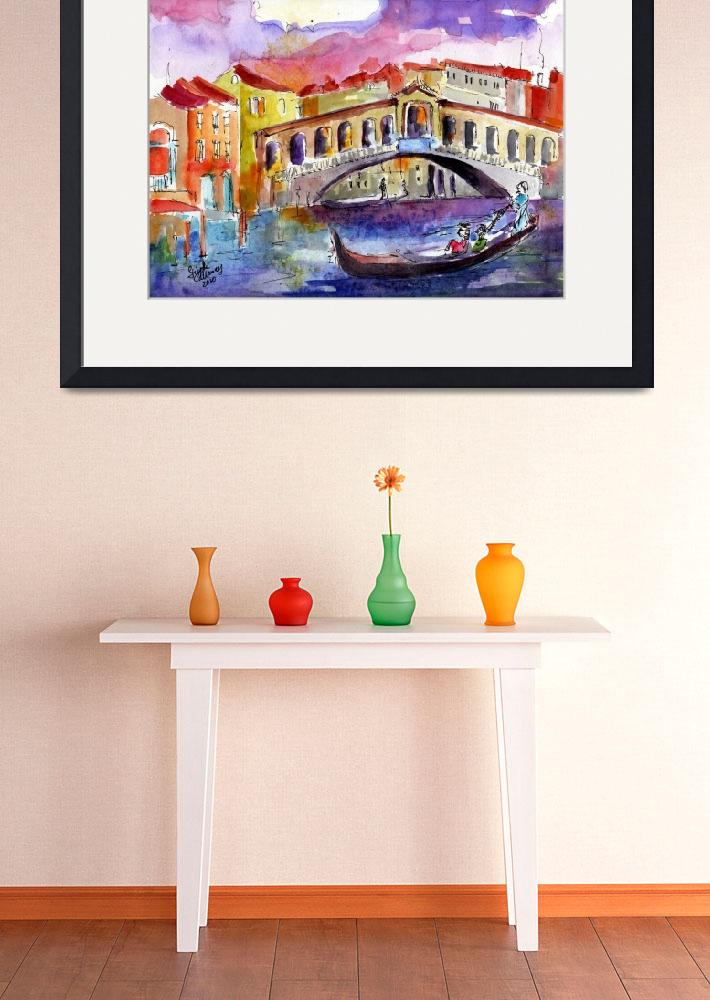 """Remembering Love in Venice Watercolor by Ginette&quot  (2010) by GinetteCallaway"