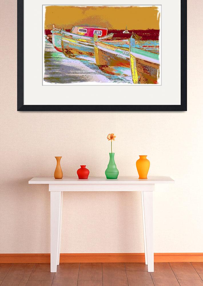 """Lisbon Boats&quot  by Positives"