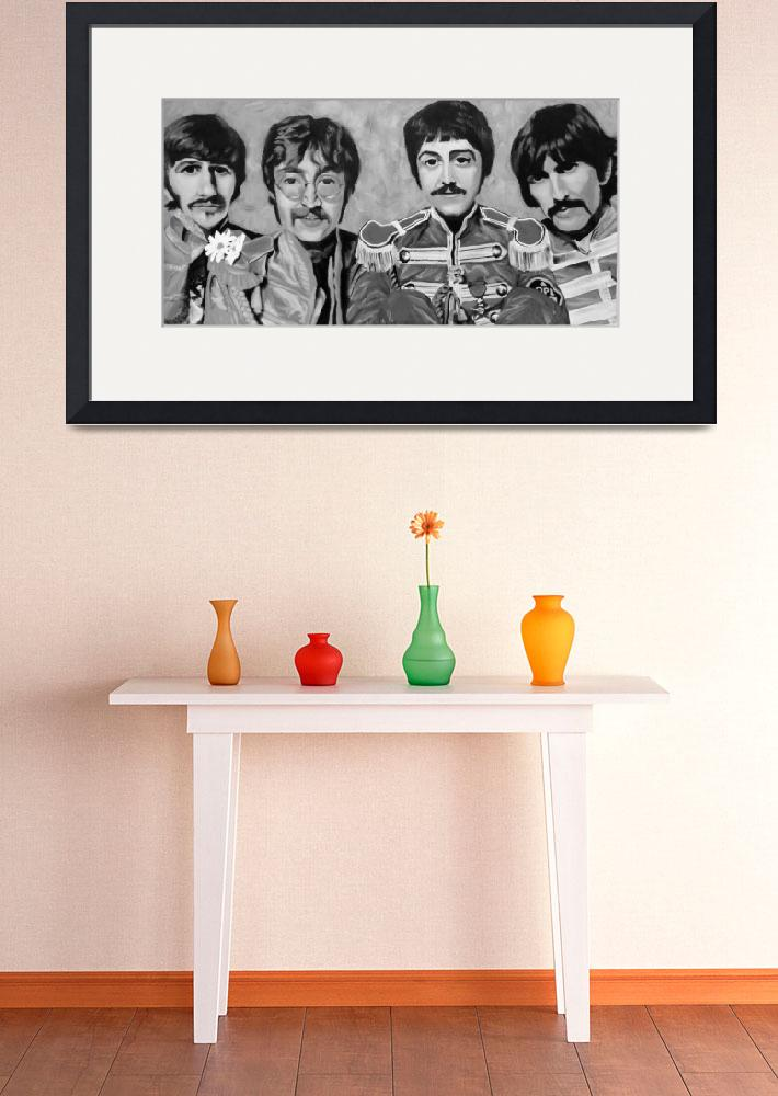 """Sgt. Peppers Black and White&quot  (2008) by lotuspetals"