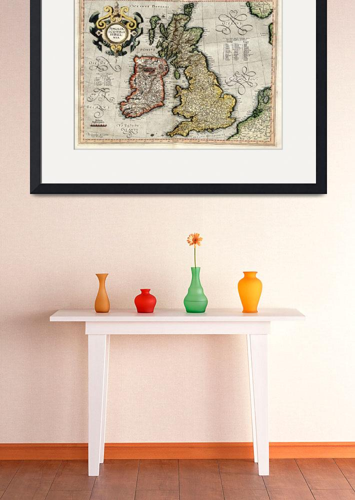 """Vintage Map of The British Isles (1596)&quot  by Alleycatshirts"